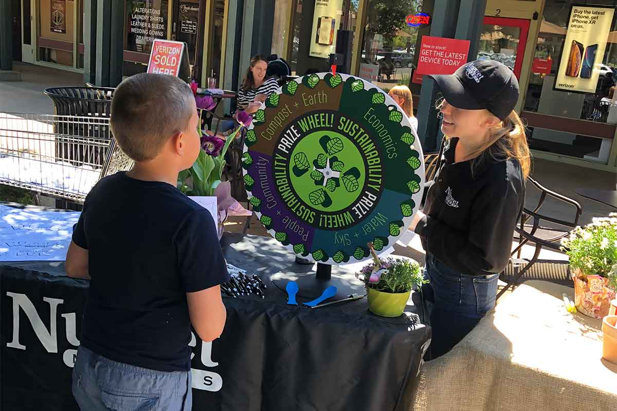 Sonoma Market Sustainability coordinator with guest on Earth Day