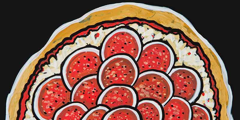 Pepparoni pizza illustration
