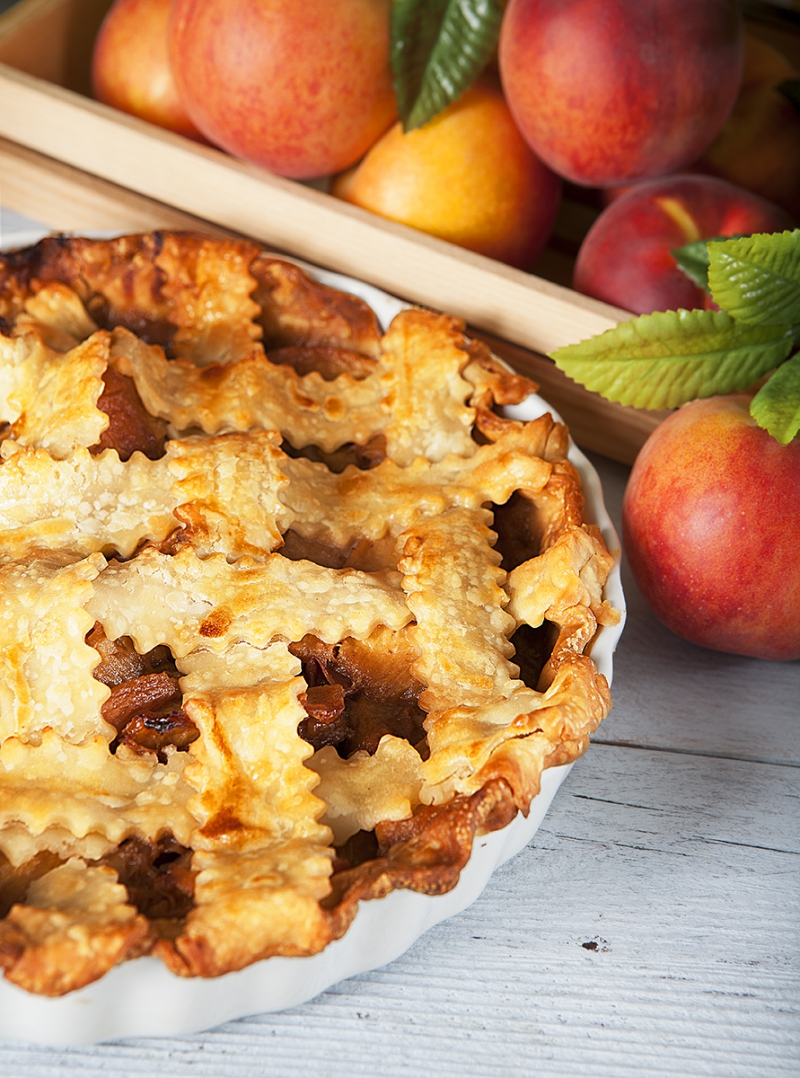 Caramelized Peach Pie