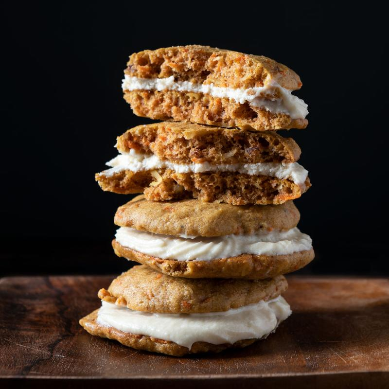 stack of carrot cake whoopie pies