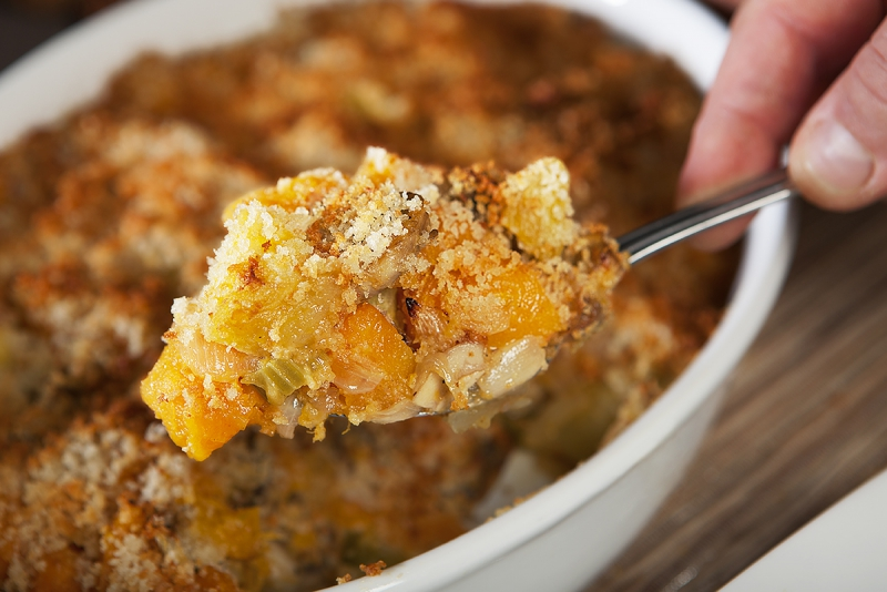 Green Apple and Butternut Squash Gratin