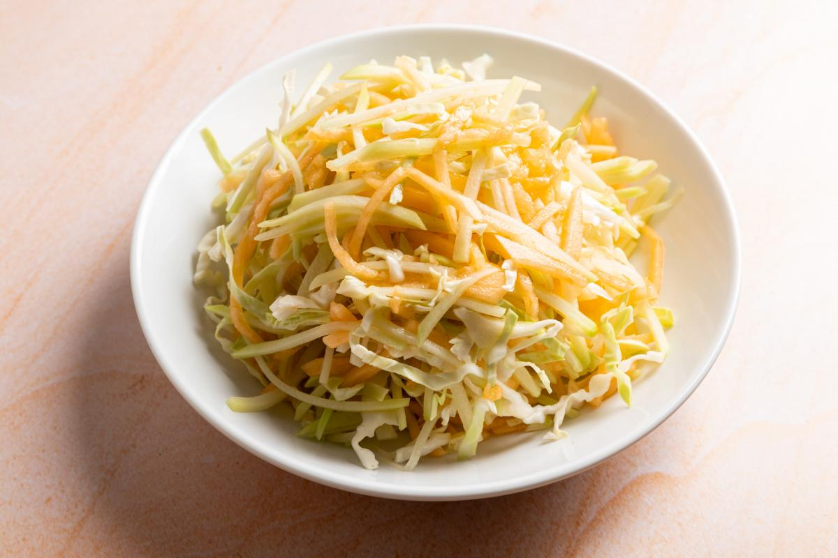chayote melon slaw in a bowl